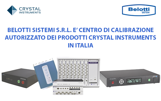 calibrazione crystal instruments